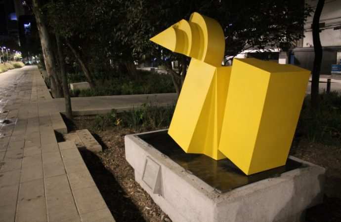 Coloca SOBSE 9 esculturas en Parque Lineal de Mixcoac