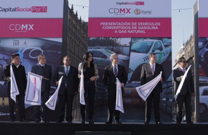 Convierte GCDMX 406 vehículos operativos a gas natural