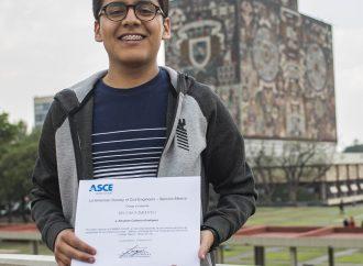 Gana estudiante de la UNAM certamen internacional de ingeniería civil