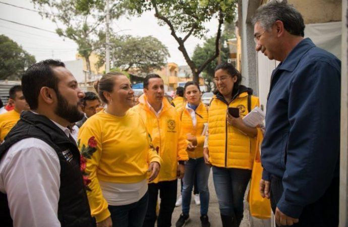 Candidatos del Frente PRD, PAN y MC impulsarán pequeño comercio en Álvaro Obregón