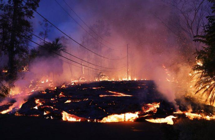 La Erupción del Kilauea, atípica porque emerge de las laderas