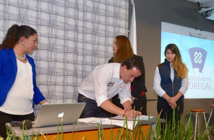 Mikel se compromete a cumplir propuestas de campaña ante la comunidad de la Universidad del Pedregal