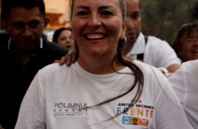 Polimnia Romana, candidata a diputada federal del Frente por el Distrito 16, exige recursos para la mitigación de obras por L12 del metro