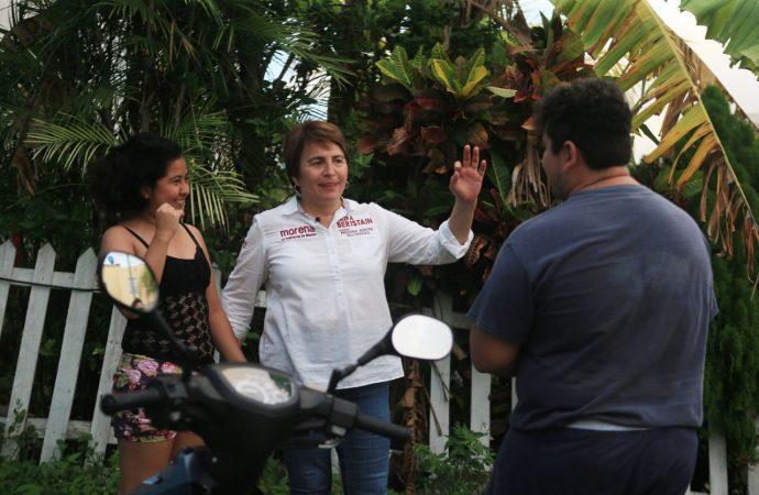 Laura Beristain: Mejores condiciones laborales para policías de Solidaridad