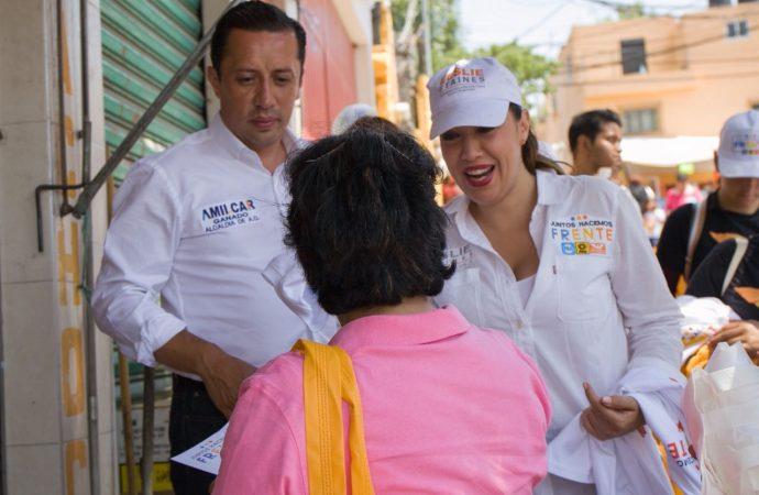 Acciones a favor de las mujeres, prometen Polimnia Romana, Leslie Staines y Amilcar Ganado en Álvaro Obregón