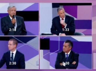 AMLO, inalcanzable. Anaya, en la hoguera de EPN. Meade defiende la corrupción