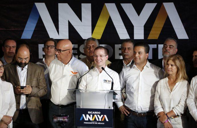 Ante las calumnias del gobierno, el respaldo a Ricardo Anaya es absoluto: Coalición Por México al Frente
