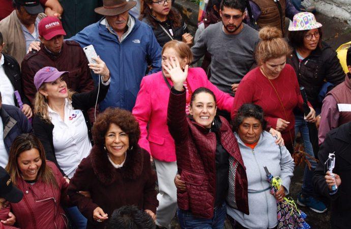 Sheinbaum encabezó caravana por la victoria en Tlalpan, como parte de su cierre de campaña