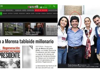 AMLO, Sheinbaum y el periódico Regeneración, que recibió de Morena 58 millones por 20 mil ejemplares