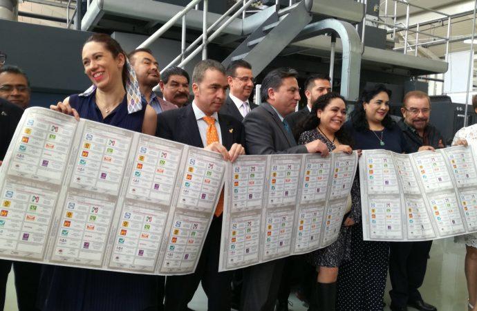 Inicia impresión de 23.7 millones de boletas para comicios en la capital