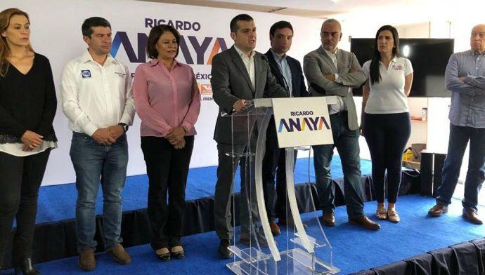 Amplía Coalición Por México al Frente evidencias de favoritismo de AMLO a Rioboó