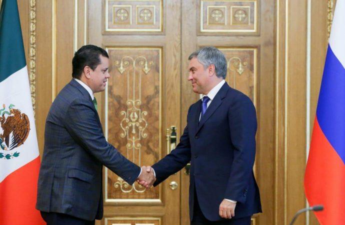 Acuerdan líderes parlamentarios de México y Rusia promover revisión de visados turísticos entre ambos países