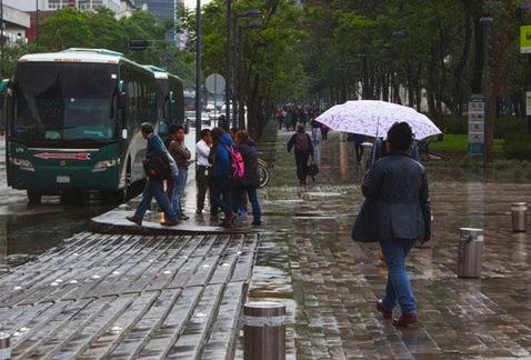 Sur y poniente de CDMX presentarán lluvia fuerte esta tarde