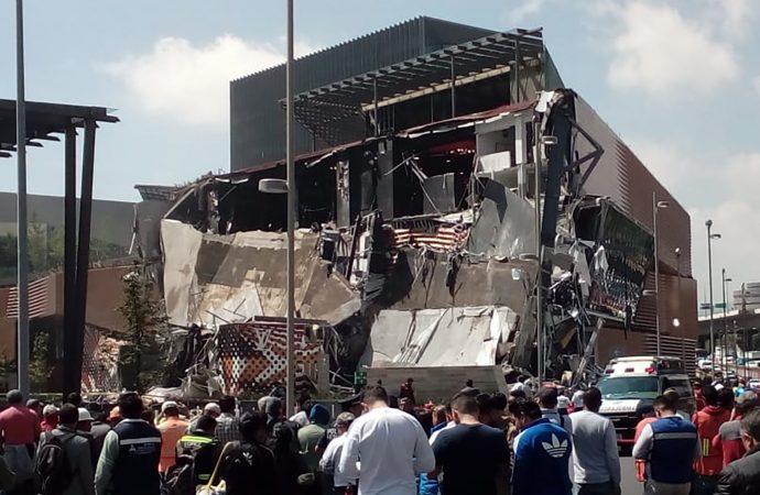 Suspenderán actividades en centro comercial tras derrumbe: Fausto Lugo