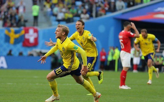 Suecia elimina a Suiza y avanza a cuartos de final en Rusia 2018