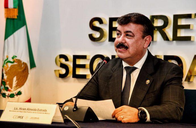 Concluirá el 31 de julio relevo de Hiram Almeida en la SSP CDMX
