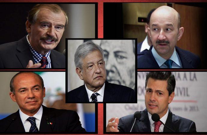Felicitan a AMLO los ex presidentes Salinas, Fox y Calderón