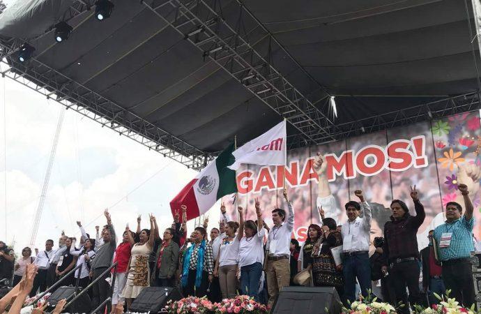 Ante 40 mil iztapalapenses celebra Clara Brugada el triunfo de Morena en la demarcación