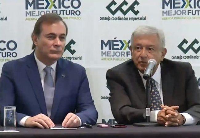 Sector empresarial otorga confianza a López Obrador