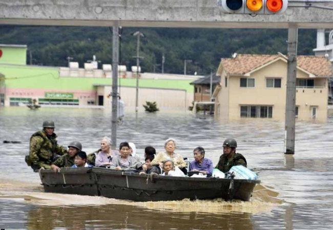 Inundaciones por lluvias en Japón dejan ya 85 muertos