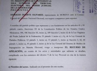 Morena presenta ante el TEPJF impugnación contra multa impuesta por el INE
