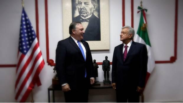 AMLO entrega a Pompeo propuesta para agenda bilateral con EU