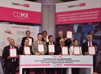 Colaborarán cámaras y colegios con GCDMX en reconstrucción