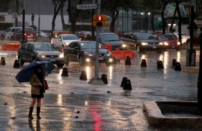Ciudad de México inicia la semana con lluvias y tormentas