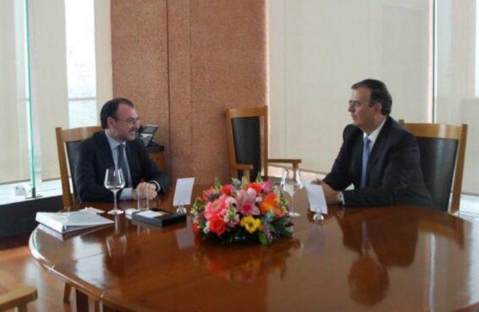 Se reúnen Luis Videgaray y Marcelo Ebrard para acordar transición
