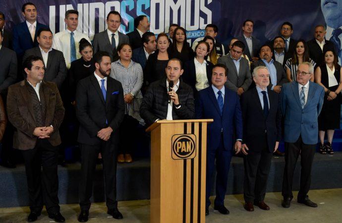 Unidad y Resultados, pide Marko Cortés a los diputados locales del PAN en el Edomex