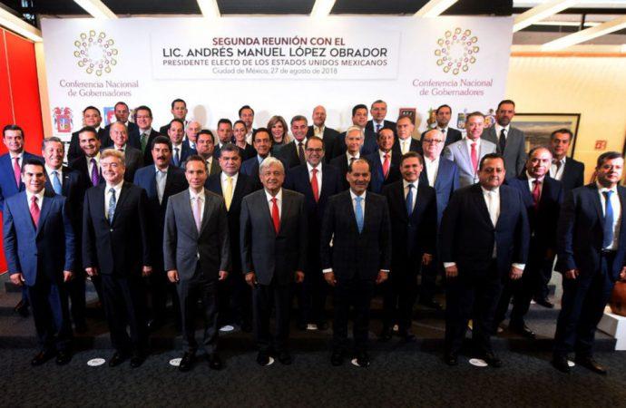 Delegados especiales van, AMLO a gobernadores