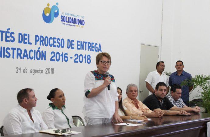 Esperamos apertura total y transparencia en la entrega-recepción del municipio de Solidaridad: Laura Beristain