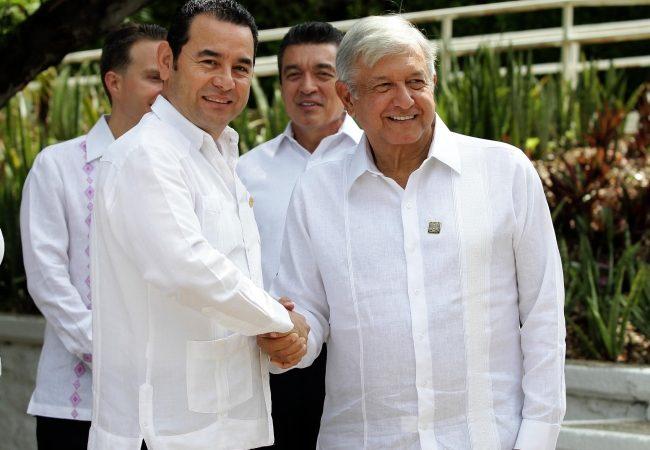 Inicia encuentro entre López Obrador y Jimmy Morales