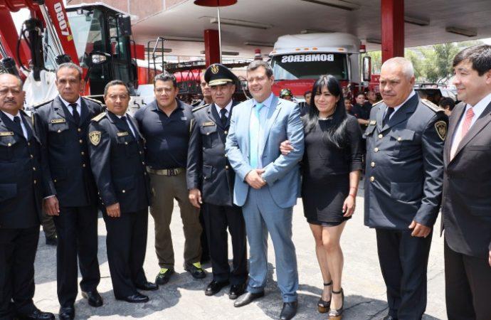 Impulsa GCDMX acciones a favor del desempeño, seguridad y calidad de vida de los bomberos