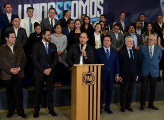 Anuncia Marko Cortés participación en contienda interna; presenta equipo de campaña