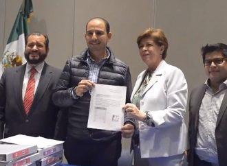 El PAN tiene historia y futuro: Marko Cortés; Entrega de más de 11 mil firmas de apoyo