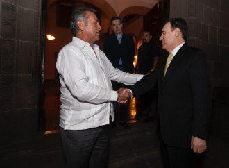 Se reúne Gobernador y futuro Secretario de Seguridad