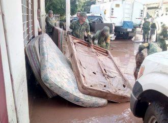 Gobierno federal evalúa daños en zonas afectadas por lluvias en Sinaloa