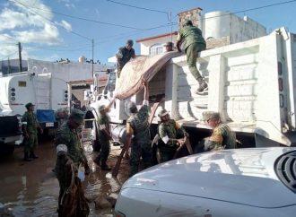 Secretarios de Estado evalúan daños en zonas afectadas por lluvias en Sinaloa
