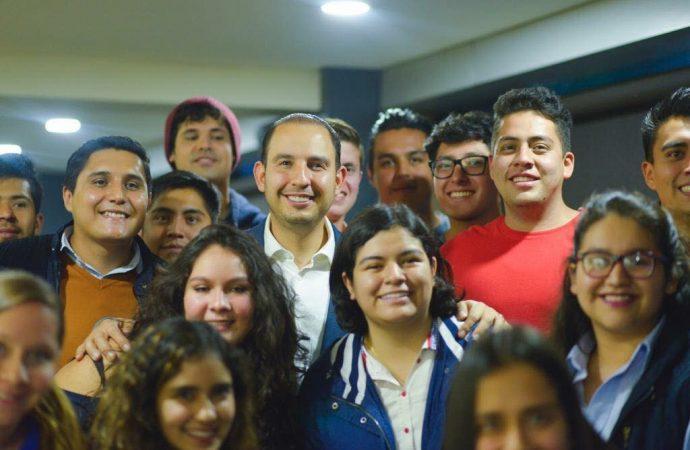 Convoca Marko Cortés a jóvenes panistas a defender los avances democráticos