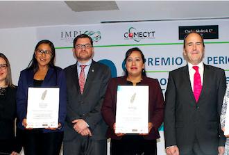 Entregan 9º Premio de Periodismo sobre Innovación Científica y Tecnológica