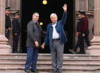 López Obrador sostiene reunión con gobernador de Nuevo León