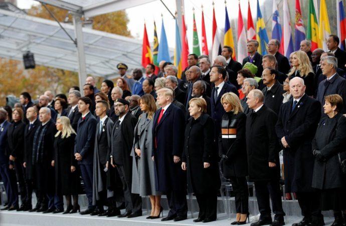 Celebran 72 mandatarios el centenario del fin de la I Guerra Mundial