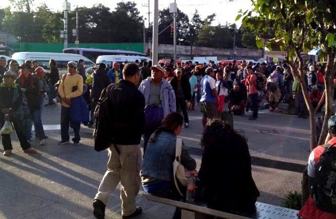 Arriban más de 700 migrantes a la Magdalena Mixhuca