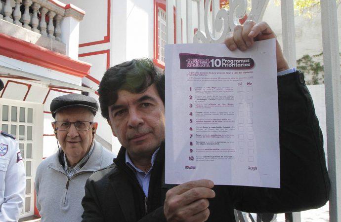 Presentan boleta para la consulta nacional de 10 Programas Prioritarios