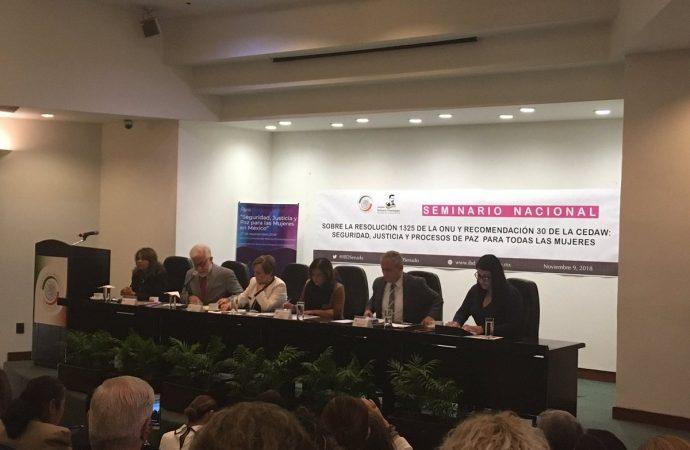 Procesos de paz, seguridad y justicia deben promover la participación de las mujeres, coinciden especialistas en seminario del IBD