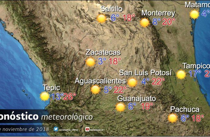 Habrá gradual aumento de temperaturas diurnas en el país