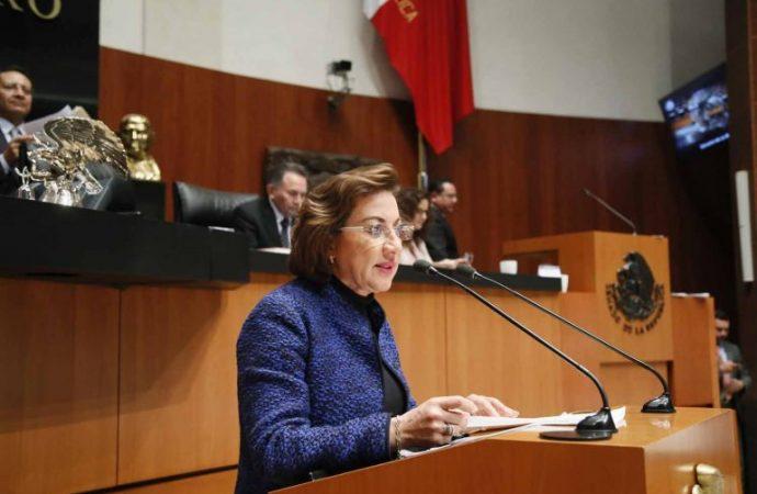 Pide senadora Murguía dotar al Instituto de Servicios Periciales y Ciencias Forenses de autonomía técnica y presupuestal