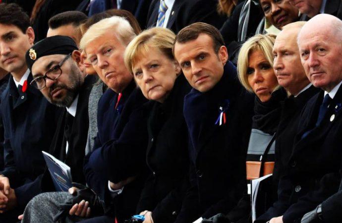 Macron y Merkel cargan contra el nacionalismo de Trump y sus aliados