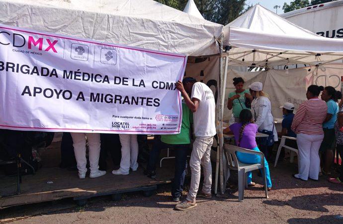 Gobierno de la CDMX da mil 370 consultas médicas a migrantes